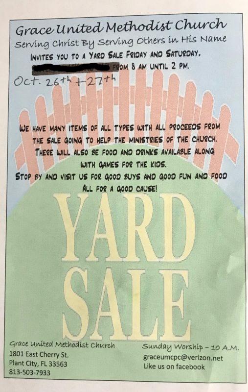 Grace United Methodist Church Yard Sale