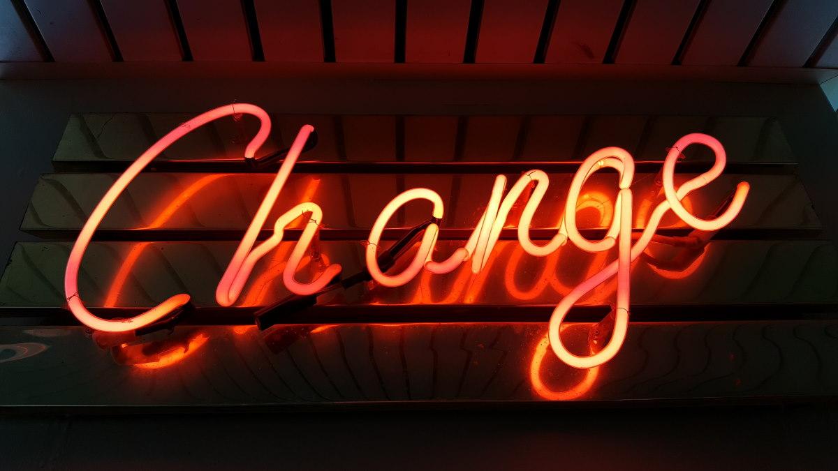 Change in neon lights